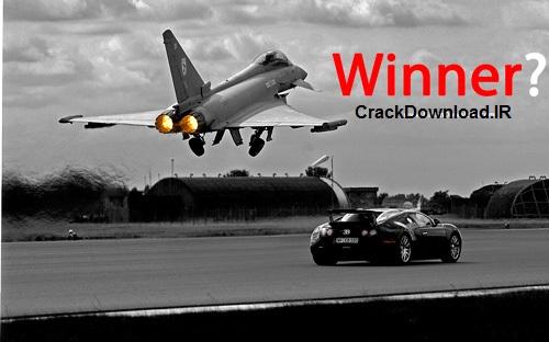 دانلود فیلم مسابقه بوگاتی ویرون و جنگنده یورو فایگتر TopGear BBC